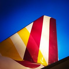 Plane Abstract Red Yellow Blue