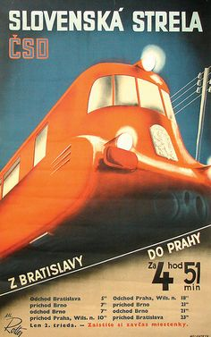 Last Sunday, the Dutch Poster Museum in Hoorn, The Netherlands, opened its doors for a special exhibition of Czech Modernist posters from the collection of the Lowry Family of New York City. Train Posters, Railway Posters, Lord Photo, Train Map, Europe Train, Vintage Boats, Bus Travel, Train Travel, Poster Ads