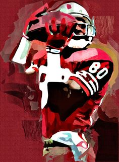 Jerry Rice Cubism Abstract Painting - Virtual Painter 6