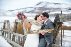 a chic winter wedding in colorado - photography by @Jamee Pierzchala - event planner by @Kara Delay -- Love This Day Events - dress by @Anna Bé Bridal Boutique - see more on COUTUREcolorado http://www.couturecolorado.com/wedding/2014/01/23/winter-wedding-ranch-style/