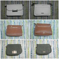 Mi colección de bolsos moda_ela        Bolso blanco negro Bolso café marrón Bolso verde botella
