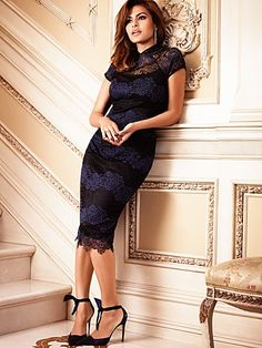 Eva Mendes Collection - Jordana Lace Sheath Dress - New York & Company Eva Mendes Collection, Dress Collection, Lace Sheath Dress, Lace Midi Dress, Eva Mendes Dress, Divas, Mode Style, New Dress, Marie