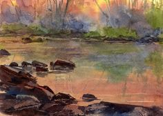Meditation  ORIGINAL WATERCOLOR  Painting by by LindaHenryArt, $50.00