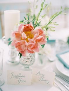 #peonies get us every time #centerpiece Photography by claryphoto.com  Read more - http://www.stylemepretty.com/2013/09/19/st-thomas-wedding-from-clary-pfeiffer/