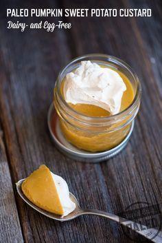 Paleo Pumpkin Sweet Potato Custard—Dairy-Free and Egg-Free | stupideasypaleo.com #paleo #realfood #pumpkin