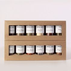 One of many spice sets available. Wish I had known about these instead of trying to hunt down spices individually!