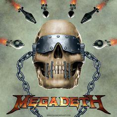 Megadeth fan art. Vic Rattlehead, Metal Skull, Guns And Roses, Danse Macabre, Band Merch, Death Metal, Fan Art, Deviantart, Skeletons