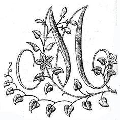 Схемы для вышивки гладью: Буквы для монограмм (русский алфавит) .