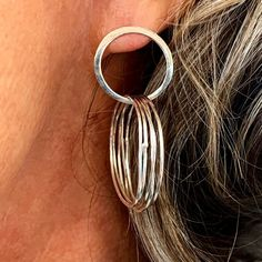 Fiona travelled from Geelong for the Intensive Beginners Jewellery Short Course. These earrings are just one of the incredible pieces she made during the two days.