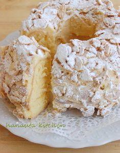 Sweets Recipes, Cake Recipes, Cooking Recipes, Vanilla Chiffon Cake Recipe, Japanese Cake, Homemade Sweets, Iranian Food, Cafe Food, Molecular Gastronomy