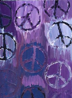 I can make this for my purple peace sign bathroom! Hippie Peace, Hippie Love, Hippie Man, Purple Love, All Things Purple, Shades Of Purple, Purple Swag, Purple Candy, Purple Art
