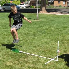DIY Paper Stomp Rockets by seamster, instructables (Ok, things my husband should try with our kids)
