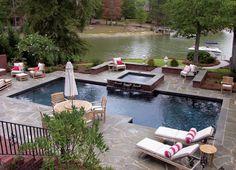 Gunite Pool on Lake Murray, SC - The Clearwater Pool Company