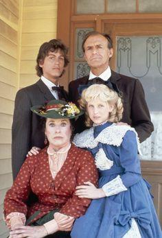 Allison Balson, Richard Bull, Jonathan Gilbert and Scottie MacGregor in Little House on the Prairie