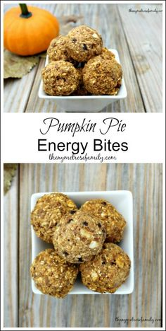 These Pumpkin Pie Energy Bites are the perfect healthy snack idea. : These Pumpkin Pie Energy Bites are the perfect healthy snack idea. Pumpkin Recipes, Fall Recipes, Snack Recipes, Cooking Recipes, Cocoa Recipes, Top Recipes, Healthy Sweets, Healthy Snacks, Healthy Recipes