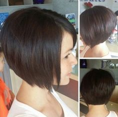 20 Chic Short Hairstyles for Fine Straight Hair in 2018 , Looking for the chic short haircuts for fine hairs for inspiration? Here, you will find 20 Chic Short Hairstyles for Fine Straight Hair that you wil. Short Hairstyles 2015, Short Bob Haircuts, Pretty Hairstyles, Straight Hairstyles, Hairstyle Ideas, Hair Ideas, Hairstyles Haircuts, Stacked Bob Hairstyles, Amazing Hairstyles