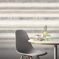Crafted in a grey colourway with chalk white and neutral tones, this contemporary wallpaper is designed with a painted horizontal stripe effect. This wallpaper is ideal for bringing a touch of modern style to your home and features a smooth matt finish. Contemporary Wallpaper, Modern Contemporary, Grey Feature Wall, Paint Stripes, Striped Wallpaper, Yellow Pattern, Yellow Painting, Soft Furnishings, Home Art