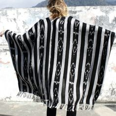 Ketzali Tribal Geo Poncho / kimono hand woven Ketzali poncho/ kimono hand woven fair trade - each purchase serving a community of women in Guatemala- ✨ limited stock will ship late next week- absolutely no returns one size fits all Ketzali Sweaters Shrugs & Ponchos