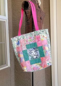 Quilted Tote by PatsysPatchwork on Etsy, $26.00