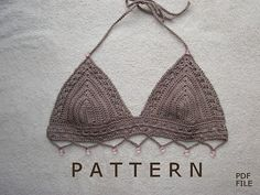 Ravelry: Beaded Bikini Top pattern by Elizabeth Pardue Tutorial ༺✿ƬⱤღ  https://www.pinterest.com/teretegui/✿༻