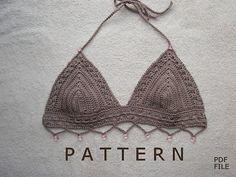 Ravelry: Beaded Bikini Top pattern by Elizabeth Pardue Tutorial ༺✿ƬⱤღ https://www.pinterest.com/teretegui/✿༻