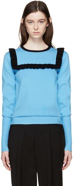 J.W.Anderson - Blue Frill Sweater