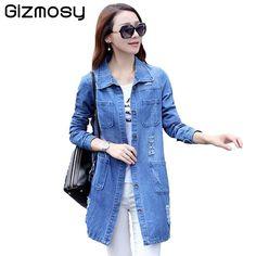 2016 Spring Long Sleeve Women Denim Jacket Frayed Jeans Jacket Women Overcoat Jean Coats plus size women Outwear BN972 - http://fashionfromchina.net/?product=2016-spring-long-sleeve-women-denim-jacket-frayed-jeans-jacket-women-overcoat-jean-coats-plus-size-women-outwear-bn972