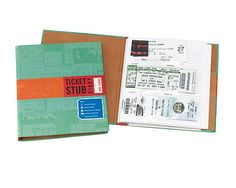 Look what I found at UncommonGoods: ticket stub diary... for $12 #uncommongoods