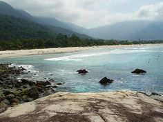 Lagoon, Maresias Sao Sebastiao SP Brazil. I spent MANY an afternoon walking on the rocks to the left and frolicking in the warm water. Such serene solitude.