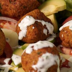 The post Falafel Salat appeared first on Pin makeup. Veggie Recipes, Salad Recipes, Vegetarian Recipes, Cooking Recipes, Healthy Recipes, Falafel Salad, Deli Food, Love Food, Foodies