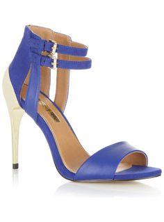 Citrus Blue Net Sole Heel