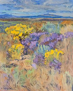 Color on the Mesa sold by Butterfield & Butterfield, San Francisco, on Wednesday, December 2000 Landscape Art, Landscape Paintings, Acrylic Paintings, Oil Paintings, Famous Artists Paintings, American Impressionism, Southwestern Art, Traditional Paintings, Environmental Art
