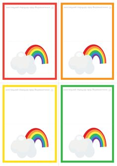 You'll find lots of Fun & Free Printable Rainbow Gift Tags and Cards at www.amazing-kids-birthday-party-ideas.com/kids-party.html