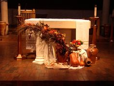 Thanksgiving church decor