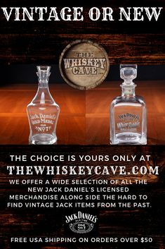 Nice to have choices! Enjoy shopping the one of a kind Store with all your favorite Jack Daniel's merchandise both vintage and new. Free USA Shipping On orders over $50 and we ship worldwide at competitive rates. #jackdaniels #barware #vintage #new #thewhiskeycave Whiskey Gifts, Bourbon Whiskey, Whisky, Cocktail Shots, Cocktail Recipes, Cocktails, Jack Daniels Bottle, Jack Daniels Whiskey, Jack Daniels Merchandise