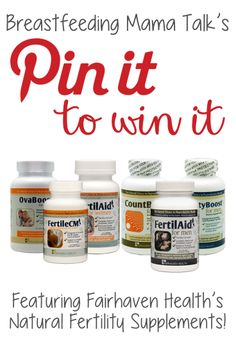 ****THIS GIVEAWAY IS NOW CLOSED AND WINNER WAS PICKED**** GIVEAWAY! In honor of National Infertility Awareness Week - Fairhaven Health is hosting a fertility giveaway on BFMT! Simply PIN this picture to one of your boards and you'll be entered to win the Fertility Supplement Package! ! Winner will be announced on April 25th! Check back then to find out if you are the winner!