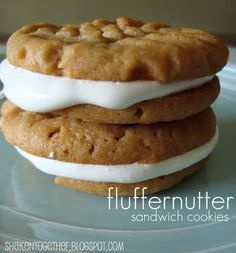peanut butter cookies with marshmellow fluff in the middle... genius!