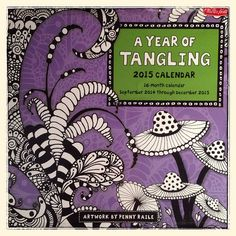 A Year of Tangling 2015 - 2015 Calendars and Diaries - Christmas Gift Ideas - Handmade Christmas 100 Happy Days, Doodles Zentangles, Handmade Christmas, Doodle Art, Creative Inspiration, Tangled, My Books, Artwork, December