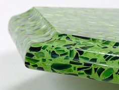 recycled glass countertops - good article describing the pros and cons