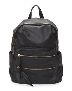 Distressed Backpack With Zippers - Backpacks - T.J.Maxx