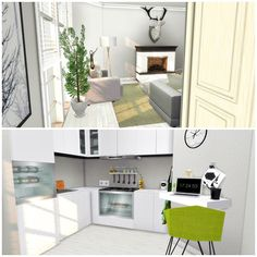 Kitchen with Livingroom at Liney Sims • Sims 4 Updates