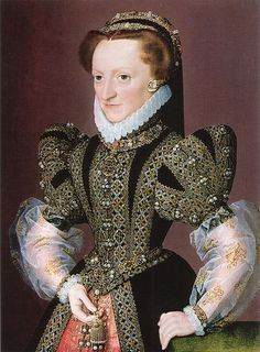 Christina of Denmark in a Franch Hood and gown, Duchess of Milan, wife of Francesco II Sforza 1568-72