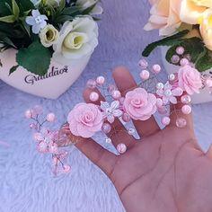 Baby Tiara, Maria Clara, Biscuit, Floral Wreath, Ribbon, Wreaths, Instagram, Pink, Decor