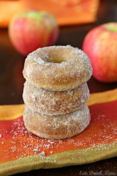 Baked Apple Cider Doughnuts - Eat. Drink. Love.