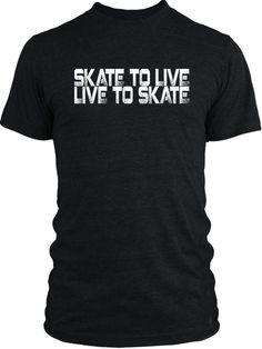 Big Texas Skate to Live (White) Vintage Tri-Blend T-Shirt