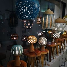 Heather Levine ceramic lamps