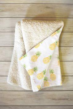 Wonder Forest Pineapple Express Fleece Throw Blanket | DENY Designs Home Accessories