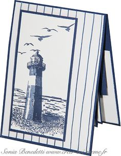 Stampin Up High tide pop and twist card Masculine Birthday Cards, Birthday Cards For Men, Masculine Cards, Male Birthday, High Tide Stampin Up, Nautical Cards, Beach Cards, Stamping Up Cards, Sympathy Cards