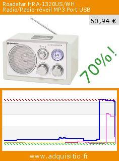 Roadstar HRA-1320US/WH Radio/Radio-réveil MP3 Port USB (Appareils électroniques). Réduction de 70%! Prix actuel 60,94 €, l'ancien prix était de 203,40 €. http://www.adquisitio.fr/roadstar/hra-1320uswh-radioradio
