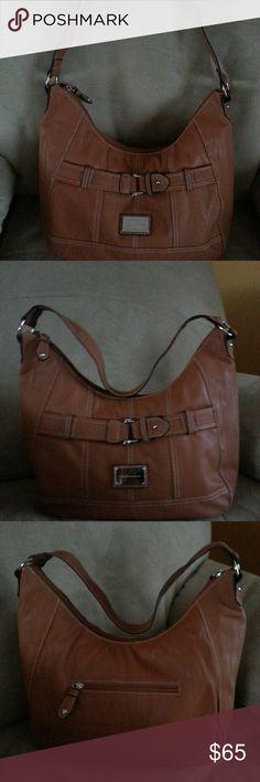 Harvě Bernard Shoulder Bag. NWNT Tan shoulder bag with strap on front and zippered pocket on back. Full lining. Never used. NWNT Harvě Bernard Bags Shoulder Bags